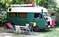 Volkswagen LT based homemade camper van conversion from the Camping Trailer For Sale, Van Camping, Camping Trailers, Camping Hacks, Mini Camper, Vw Camper, Homemade Camper Van, Hiace Camper, Southern California Camping