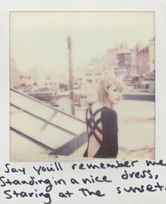 Taylor Swift lyric polaroid 1989