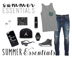 """Men's Summer Style"" by shosho-mahmmod ❤ liked on Polyvore featuring Nudie Jeans Co., tentree, Diesel, Lacoste, Jordan Brand, Beats by Dr. Dre, Burberry, Salvatore Ferragamo, men's fashion and menswear"