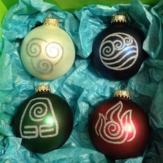 Avatar the Last Airbender Christmas Ornaments! omg want!