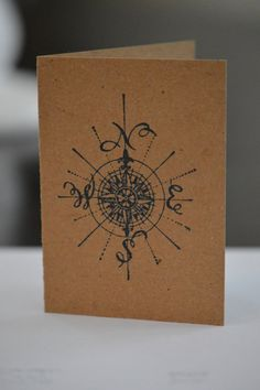 Nautical Compass Rose Greeting Card on Etsy, $2.50