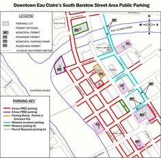 Downtown Eau Claire, Wisconsin | Post- Construction Parking Map