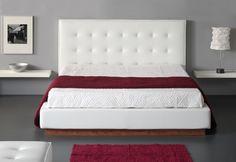 cama tapizada con cabecero capitone 3 - cabecero piel polipiel o tela