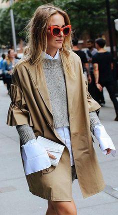 Rebecca Laurey in a Rebecca Minkoff sweater and Jimmy Choo bag