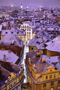 Prague, Czech Republic - City that is magical in every time of the year. For me winter in Prague is like a fairy tale. Everything is dressed up in Christmas, people, shops, buildings even cars. If you are visiting Prague in winter, make sure that you bring you polar clothes because it's freezing cold.