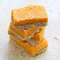 Sweet Potato Tea Bars. Will have to make it healthy though...without the cream cheese! and much less sugar!