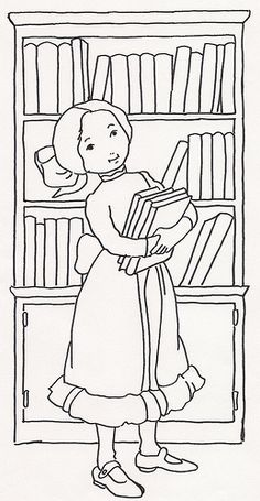 Girl w Books at Bookcase | Flickr - Photo Sharing!