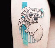 Koala tattoo by Olga Sienkiewicz