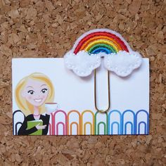 Hey, I found this really awesome Etsy listing at https://www.etsy.com/listing/243629733/felt-rainbow-paper-clip-bookmark-planner