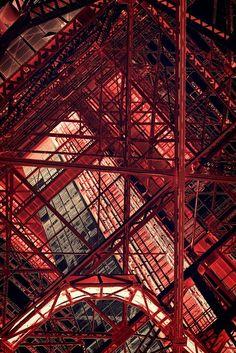 architecturia:  Tokyo Tower, Japan architecture unique arts
