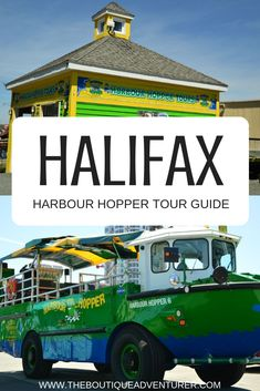 Traveling to the East coast of Canada? The amphibious tour in Halifax Nova Scotia is called the Harbour Hopper and is Atlantic Canada's number one tour. It is well worth doing and good value for money. Canada Destinations, Vacation Destinations, Vacations, Adventure Tours, Adventure Travel, Discover Canada, Atlantic Canada, Travel, Pug
