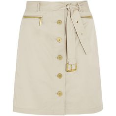 MICHAEL Michael Kors Belted stretch-cotton skirt (485 CNY) ❤ liked on Polyvore