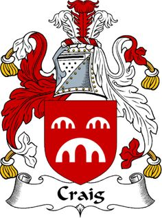 Craig Clan Coat of Arms from the website www.4crests.com #coatofarms…