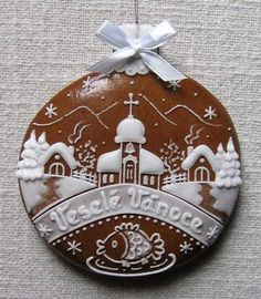 Today we are looking at Moravian and Bohemian gingerbread designs from the Czech Republic. Back home, gingerbread is eaten year round and beautifully decorated cookies are given on all occasions. Ginger Cookies, Iced Cookies, Cute Cookies, Holiday Cookies, Almond Cookies, Chocolate Cookies, Christmas Goodies, Christmas Treats, Christmas Decorations
