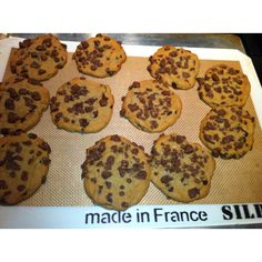 chocolate chip cookies covered with Nestlé Crunch topping