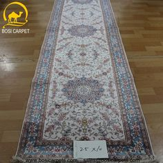 Hand knotted silk rug # Rug No.: P3086# Quality: 180L (225kpsi) # Size: 2.5x10ft (76x305cm) # Material: 100% Silk # wholesale Price: $875/piece # If you have any interests, please email to sales@bosicarpets... handmadesilkcarpet#handmaderug#silkrug#silkcarpet#carpet#persiancarpet#persianrugs#rug#handmaderug#handknottedrug#iranrug#chineserug#turkeyrug#turkishcarpets#silkcarpets#silk#floorrug#hali#ipekhai#redrug#bluecarpet#turleycarpet