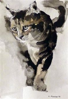 Katya Minkina -ft #CatWatercolor