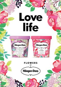 Given that Spring is somewhat in the air, it seems only fitting that this  limited edition Häagen-Dazs packaging is full of florals and bright colors.