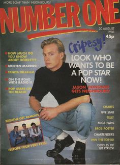 The magazine is in good condition and will make an excellent addition to the collection of any fan of Jason Donovan. Nathan of Brother Beyond - back cover colour photo. Other artists featured in the magazine include. | eBay!