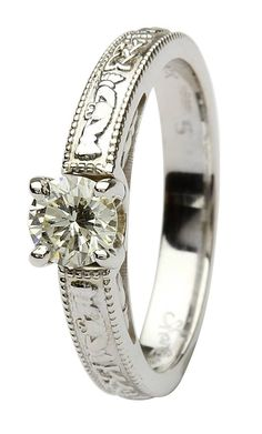 20 Best Claddagh Ring Diamond Collection Images On Pinterest