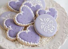 Lavendar Heart Cookies