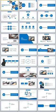 30+ Blue Business solution PowerPoint templates