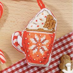 Hot chocolate cross stitch pattern