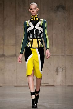 Peter Pilotto - they translated the artwork of Spanish Surrealists into a modern girl's garb through a bright color palette, a lot of splicing and interesting material manipulation.