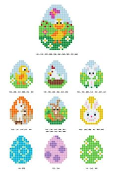 Free Pixel Hobby Easter Bead Pattern on 10 Easter Patterns - Ritohobby. - Free Pixel Hobby Easter Bead Pattern on 10 Easter Patterns – Ritohobby. Hama Beads Design, Hama Beads Patterns, Beading Patterns Free, Kids Crafts, Easter Crafts, Diy And Crafts, Baby Crafts, Perler Bead Art, Perler Beads