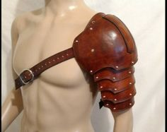 LARP Armor  Leather Pauldron Valknut: Odin's by IronWoodsShop