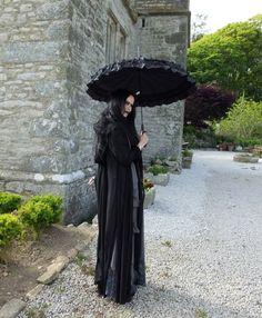 Grey Lady Lily Munster Shroud by Moonmaiden Gothic Clothing UK