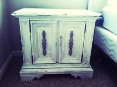 Night stand makeover- was originally solid black