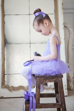 #young #ballerina #purple #tutu