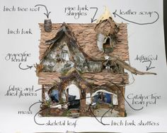 DIY fairy house that would go great in a terrarium or fairy garden! Fairy Garden Houses, Gnome Garden, Diy Fairy House, Fairies Garden, Fairy Land, Fairy Tales, Party Fiesta, Fairy Village, Fairy Furniture