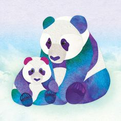 Illustration — Shanti Sparrow Graphic Design Illustration, Illustration Art, Animal Illustrations, Panda Pillow, Framed Art Prints, Canvas Prints, Panda Art, Duvet Covers, Just For You
