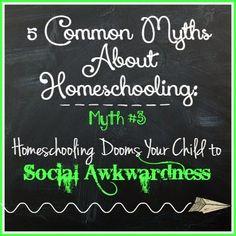 Farm Fresh Adventures: 5 Common Myths About Homeschooling: Myth #3~ Social Awkwardness