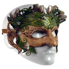 Celtic Greenlady Leather Half-Mask