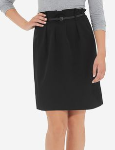Dress up any casual tee with this belted, playful skirt!