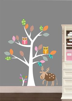 Children Wall Decals Nursery Tree Decal with by NurseryWallArt $79.99 & 689 best Nursery wall decals images on Pinterest | Nursery wall ...