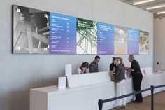 2 × 4: Project: PAMM love the alternating color panels at visitor desk