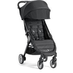 The City Tour stroller folds small for big adventures. At only 14 lbs., it folds down small and meets carry-on requirements for many modes of transportation. A convenient backpack-style carry bag come