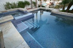Completely tiled pool