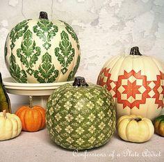 Tutorial-decoupaging pumpkins