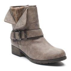 SO® Video Women's Moto Boots, Size: medium (7.5), Med Grey