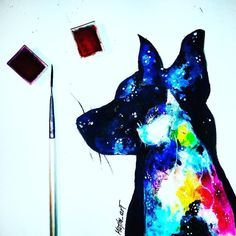 Today I tried the new watercolors with starry silhouettes of dog and cat! #watercolor #colour #colorful #pets #pet #drawing #sketch #sketch_daily #dailyarts #silhouette #like4like #like #work #artwork #disegno #dibujo #post #pose #nature #arts__gallery #art_worldly #arts_help #proartists #sketch_daily by majla_art