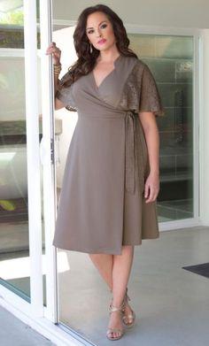 Charming Lace Wrap Dress- KIYONNA Original