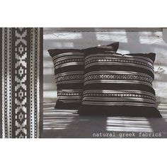 traditional pillows #naturalgreekfabrics #madeingreece #natural #fabrics