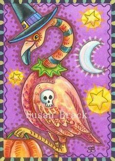 Halloween flamingo by Susan Brack