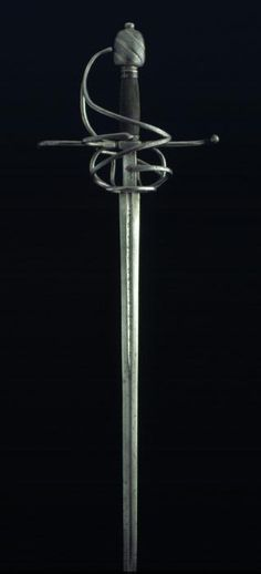 Swept Hilt Sword, 16th Century, Steel and Wood, 121 cm, Inventory Number 215, Museo Lázaro Galdiano, Madrid.