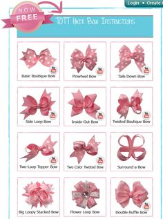 Free Hair Bows Instructions | Free Download Free How To Diy Instructions Raggie Bows Hair Bow